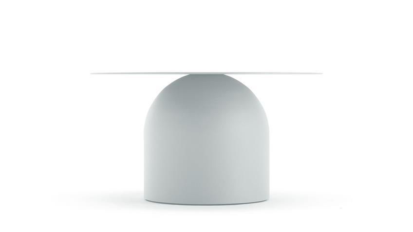 Couchtisch Stahlblech weiß Ø 70 cm freistil 154 Rolf Benz