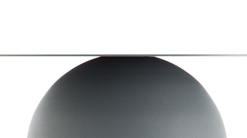 Couchtisch Stahlblech grau Ø 43 cm freistil 154 Rolf Benz