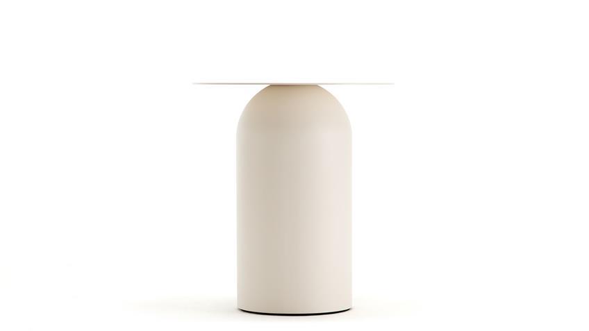 Couchtisch Stahlblech cremeweiß Ø 43 cm freistil 154 Rolf Benz