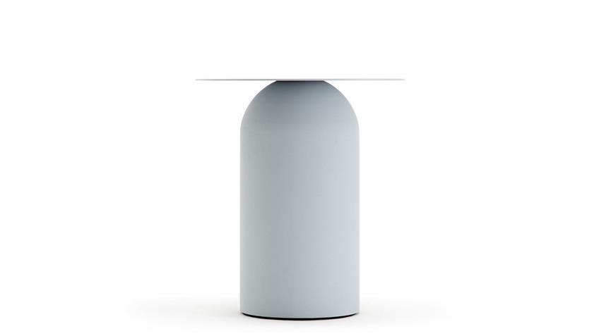 Couchtisch Stahlblech weiß Ø 43 cm freistil 154 Rolf Benz