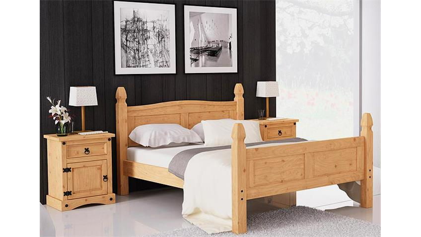Doppelbett PEDRO II Bett Pinie massiv 180x200