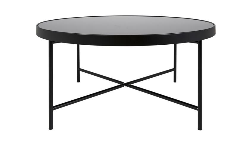 couchtisch molly 27 tisch rund schwarz lackiert mit glas. Black Bedroom Furniture Sets. Home Design Ideas