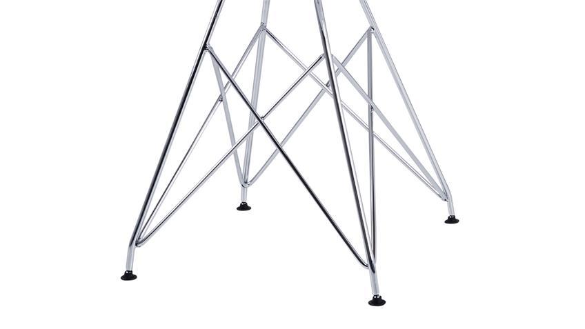 S H 4er-Set Stuhl Crystal/Kristall Metall weiß