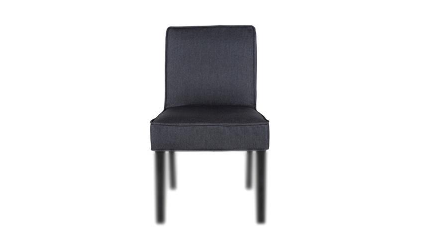 Husse DANIA Stuhlhusse Sitzbezug Stuhlbezug Stuhlüberzug Stoff schwarz