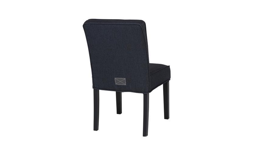 Küchenstuhl DANIA Stuhl Esszimmerstuhl Stoff schwarz Füße schwarz Lack