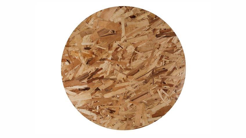 Couchtisch Misty Beistelltisch Platte Holz natur Ø 80 cm