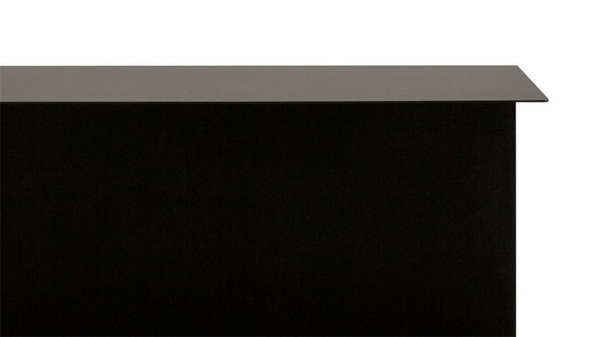 Wandregal 2 KARA in Eisen schwarz matt lackiert industrial