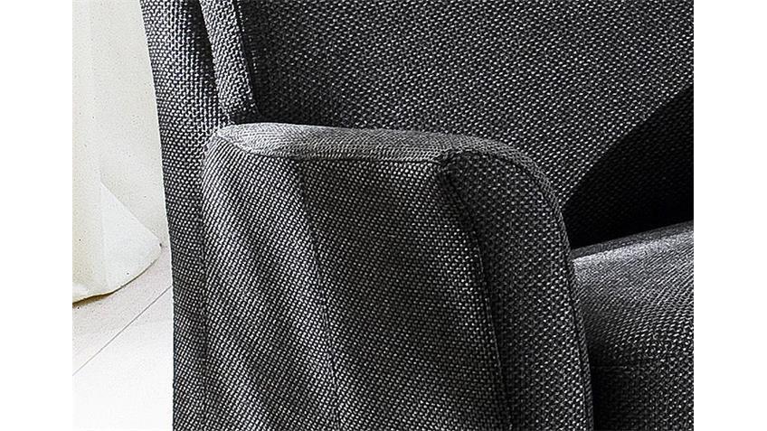 Sessel MILA Polstermöbel Armlehnsessel in dunkelgrau 73x70