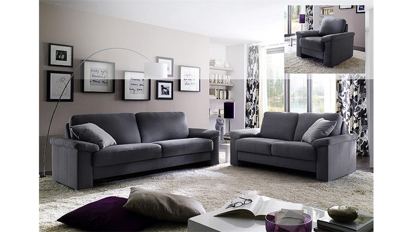 Sofa MOBILE 2-Sitzer Stoff dunkelgrau Breite 182 cm