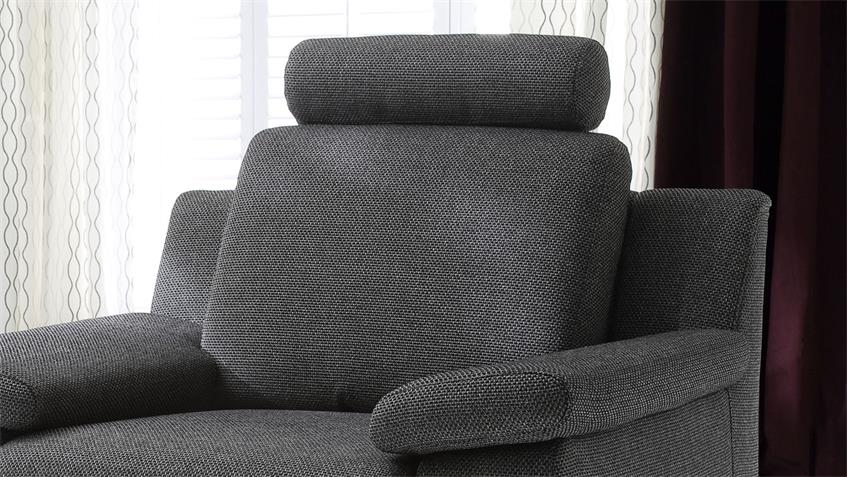 Sessel CHOICE 1-Sitzer Stoff dunkelgrau inkl. Nosagfederung