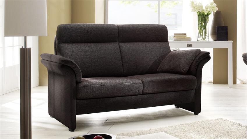 Sofa MADEIRA 2-Sitzer braun schwarz Sitz Federkern 152 cm