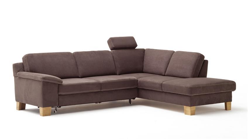ecksofa p6280 in microfaser braun nosagfederung 261x209 cm. Black Bedroom Furniture Sets. Home Design Ideas