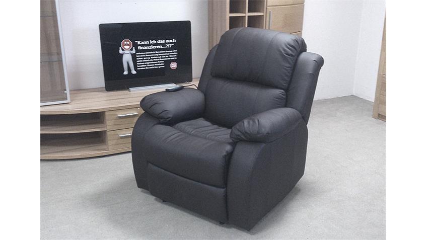 TV Sessel LAKOS schwarz inkl. Vibrationsmassage Heizung
