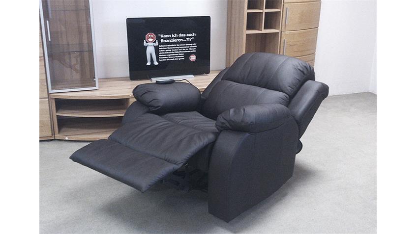 Sofagarnitur LAKOS Sofa Polstermöbel Relaxfunktion schwarz