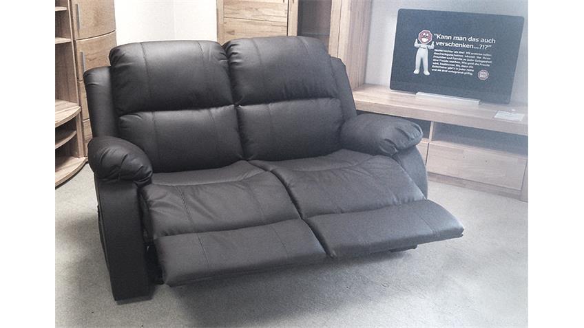 Sofa LAKOS 2-sitzer Polstermöbel in schwarz mit Funktion