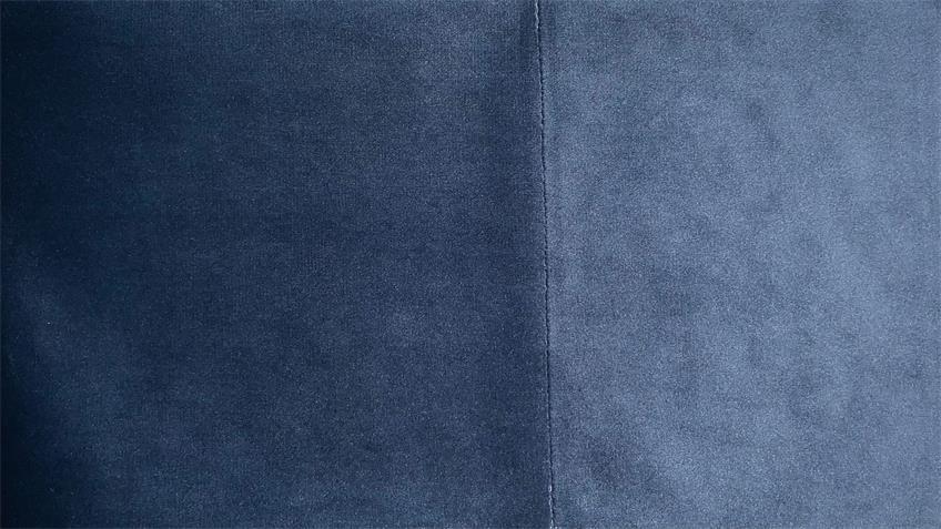 Ecksofa SIXTY in Velour Stoff Velvet navy blau 250x175 cm