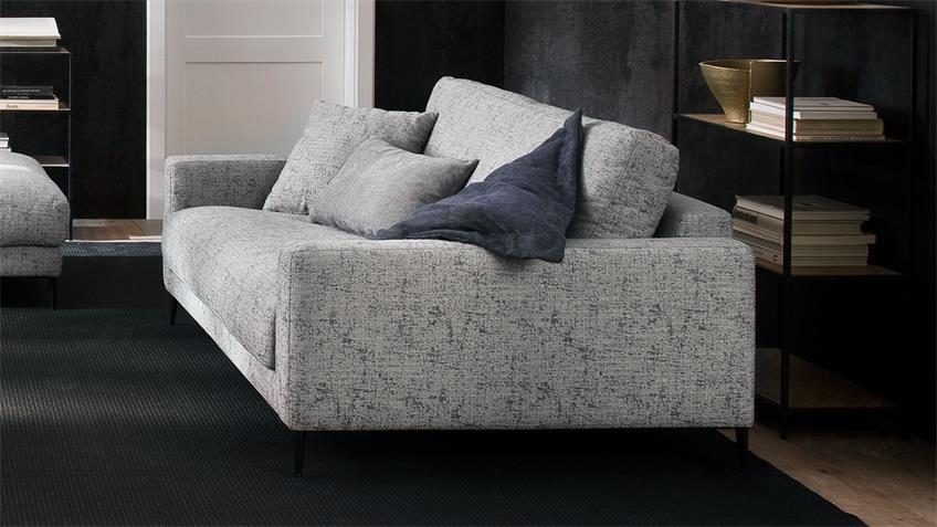 Sofa UPTOWN 2-Sitzer Couch Polstersofa Stoff grau 192 cm