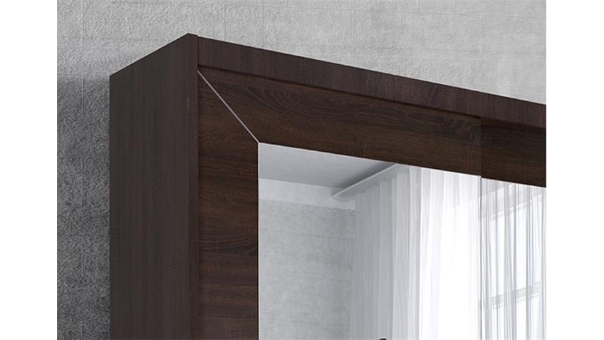 Schwebetürenschrank ALFA Sonoma Eiche dunkel 180 cm