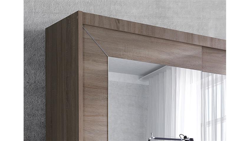 Schwebetürenschrank ALFA Sonoma Eiche hell 180 cm