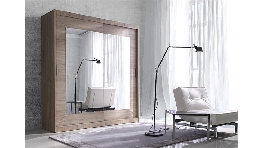 schwebet renschrank alfa sonoma eiche hell 200 cm. Black Bedroom Furniture Sets. Home Design Ideas