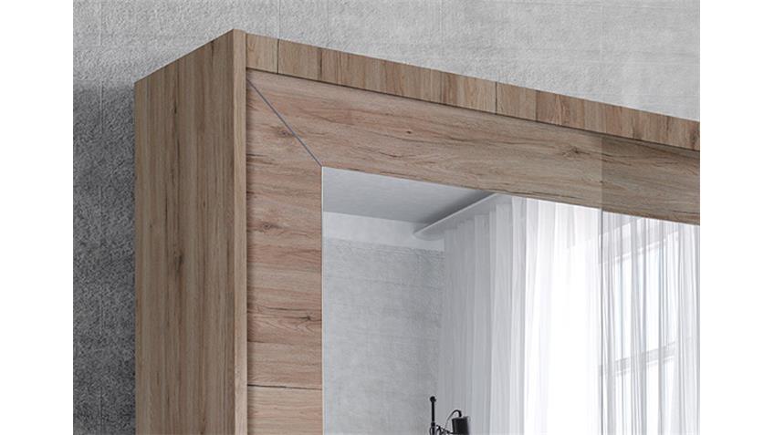 Schwebetürenschrank ALFA San Remo Eiche hell 180 cm