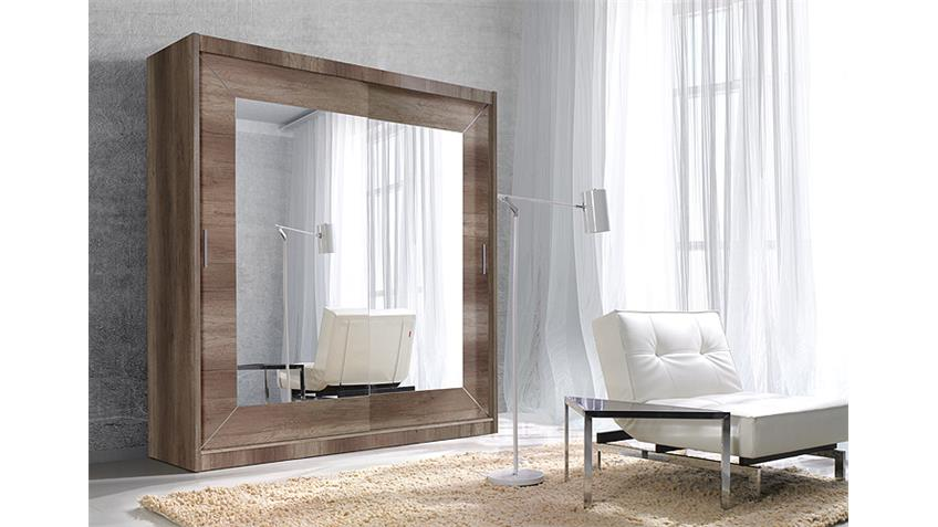 Schwebetürenschrank ALFA country grey oak 200 cm