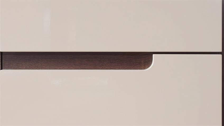 Kleiderschrank HEKTOR Sonoma Sand Grau Hochglanz, 181 cm