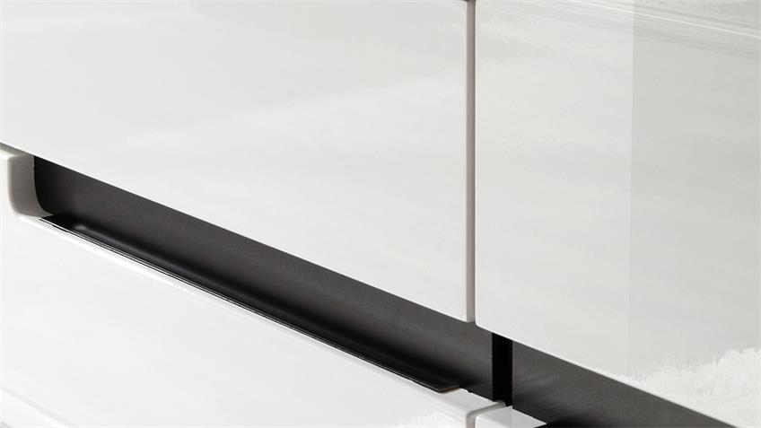 Schrank HEKTOR 18 Fronten Weiß Hochglanz tiefgezogen