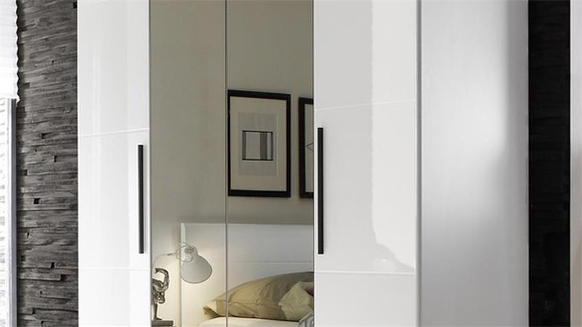 Kleiderschrank HARMONYS in Weiß Hochglanz B 181 cm