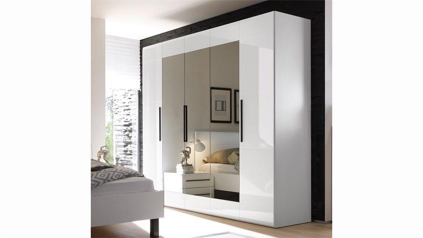 Schlafzimmer HARMONYS 4-Teilig in Weiß Hochglanz