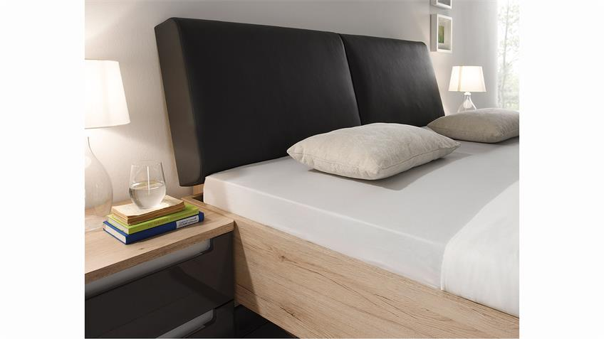 Schlafzimmer ASTERIA San Remo Eiche hell Grau Hochglanz