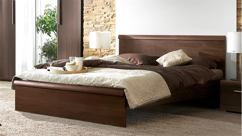 futonbett mestre bett in eiche sonoma dunkel 160x200 cm. Black Bedroom Furniture Sets. Home Design Ideas