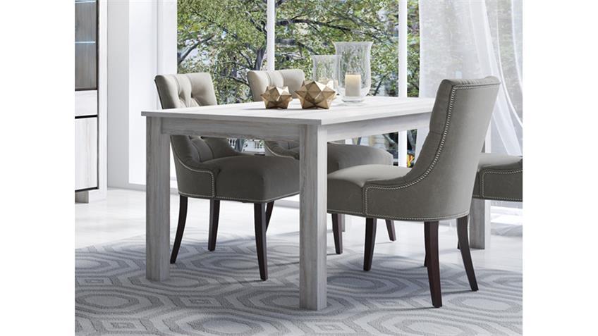 Esstisch CUBA Esszimmertisch Tisch Küchentisch Canyon pine weiß 190x90