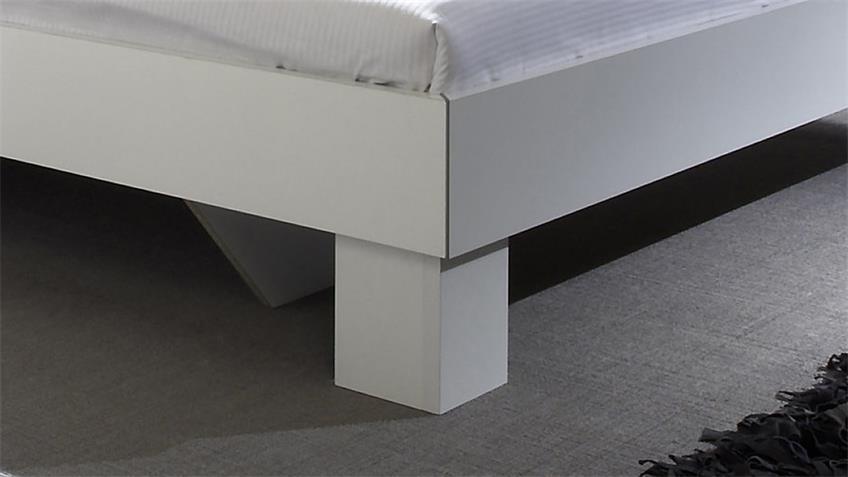 Bettanlage CAROLIN weiß lila 180x200 cm inkl. 2 Nachttische
