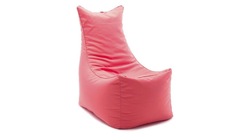 Sitzsack Cubic Seat rot Sitting Bull korallrot Indoor Sitzkissen