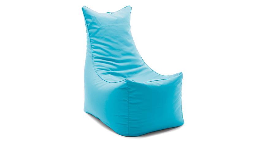 Sitzsack Sitting Bull Cubic Seat türkis arctic blue Sitzkissen