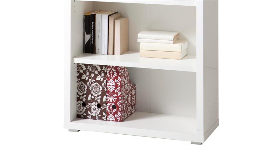 regal stampa b ro b cherregal in wei hochglanz. Black Bedroom Furniture Sets. Home Design Ideas