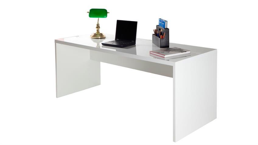 Schreibtisch KRONOS Büromöbel weiß hochglanz lackiert