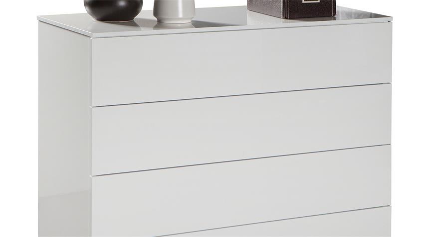 Kommode PRIVILEGIO Sideboard weiß hochglanz lackiert