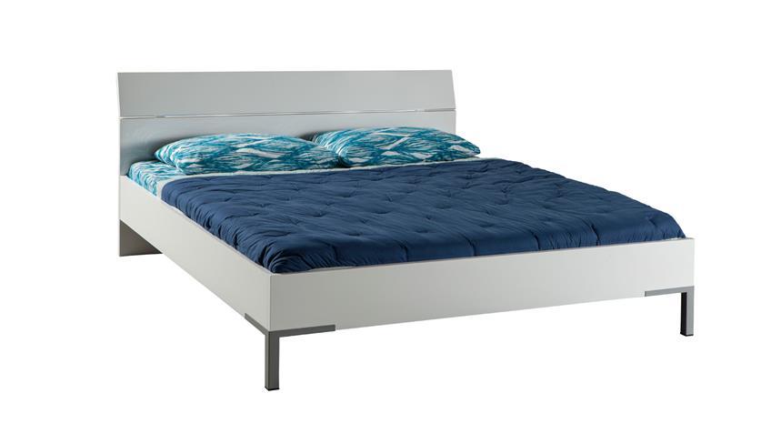 Bett PRIVILEGIO 140x200cm in weiß hochglanz lackiert