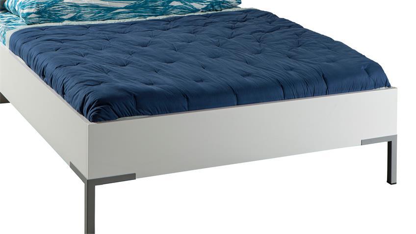 Bett PRIVILEGIO in weiß hochglanz lackiert 90x200