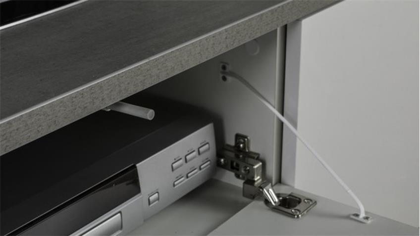 Lowboard PRIVILEGIO Hochglanz weiß Beton Optik 150 cm