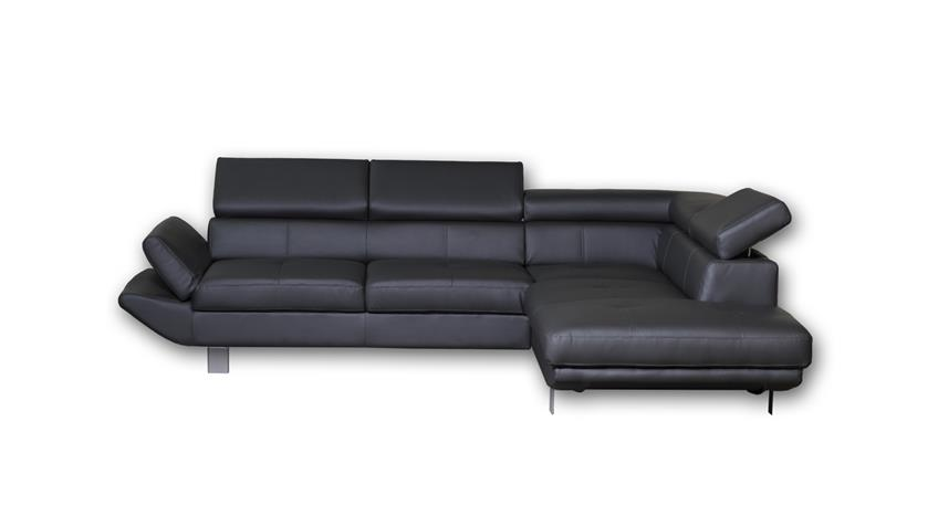 Ecksofa CARRIER Wohnlandschaft Sofa Polsterecke in schwarz