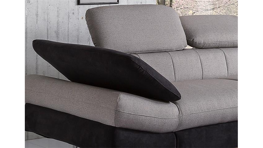 Ecksofa SOLUTION Sofa sand grau schwarz mit Bettfunktion