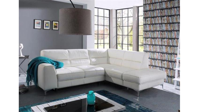 Ecksofa SPECTACLE Sofa Wohnlandschaft Polsterecke weiß