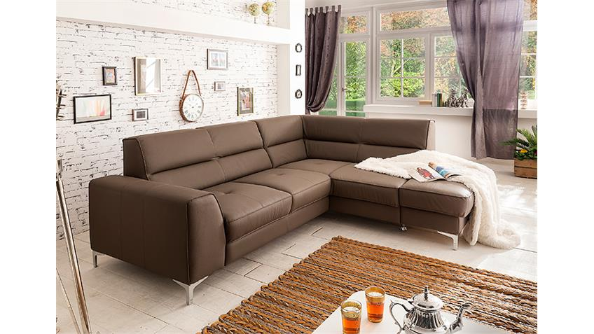 ecksofa spectacle sofa wohnlandschaft polsterecke mud braun. Black Bedroom Furniture Sets. Home Design Ideas