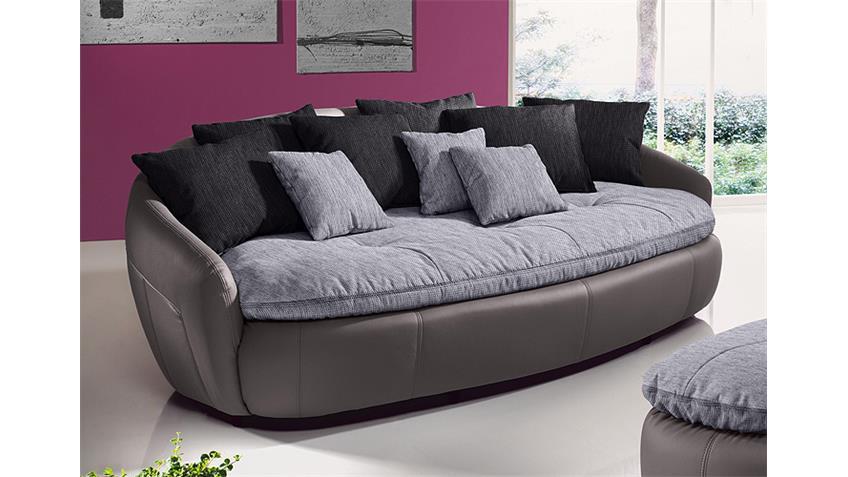 Megasofa ARUBA 2 Sofa Bigsofa in grau schwarz inkl. Kissen