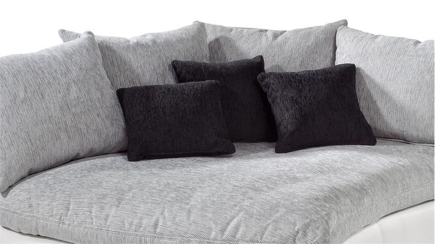 Sofaelement TUNIS Ecke weiß und grau inkl. Kissen 145x130 cm