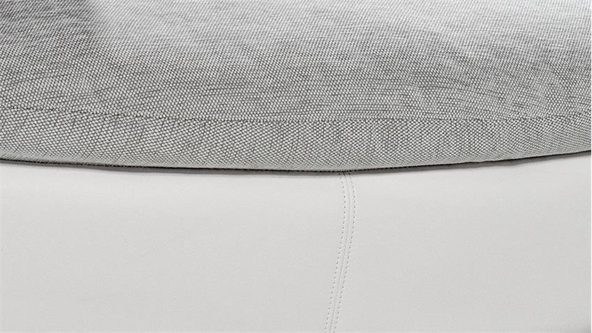 Hocker TUNIS Polsterhocker in weiß und grau 120x85 cm