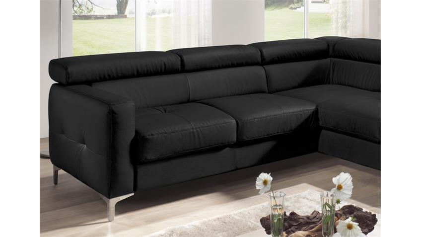 Ecksofa SAMMY Polsterecke Sofa schwarz mit Bettfunktion
